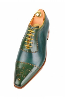 Bicolor handpainted oxfords blue-yellow-green 116-07 pic35