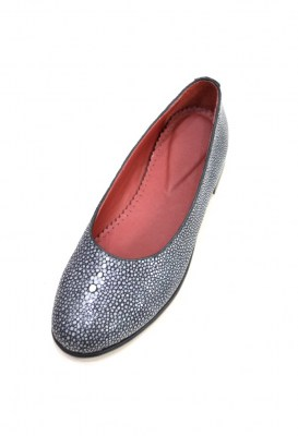 Grey stingray ladies flat ballet