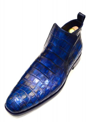 Handpainted custom croco boots by Rozsnyai handmade shoes for RD (3)